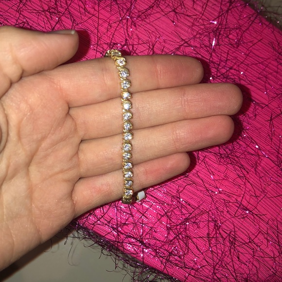 Jewelry - NWT 18K gold over sterling silver. Cubic zirconia